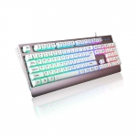 Metal top cover LED keyboard