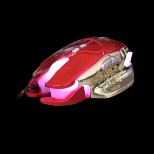 Gold white LED gaming mouse